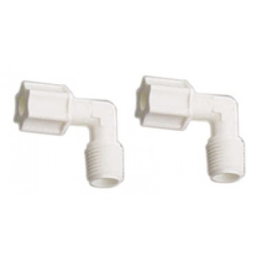 4044-K qty 2 Male Elbow Fitting Compression type 1/4""