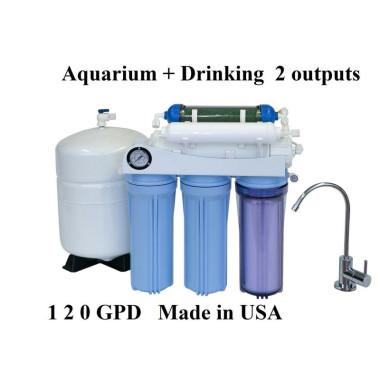 .AR125 Aquarium Drinking 120GPD REVERSE OSMOSIS RO DI WATER FILTER SYSTEM