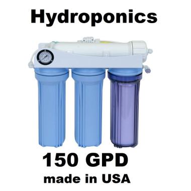 .HK120 Aeroponics Hydroponics RO Reverse Osmosis Water System 150GPD Plants Garden
