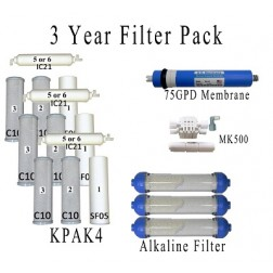 Value Pack- Entire 3 Years of Replacement Filters and Maintenance Kit for K6ALK System