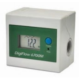 """FM-6700M, 3/8"""" NPT Digiflow 6700M Digital Flow Meter count up total Water Gallons GPM"""