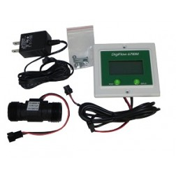 """FM6710-66TM, Panel 3/4"""" Digiflow 6710M-66TM Digital Flow Meter count up 115V"""