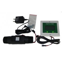 "FM6710M-88TM, Panel Digital 1""  Flow Meter count up Gallons GPM 115V cord"