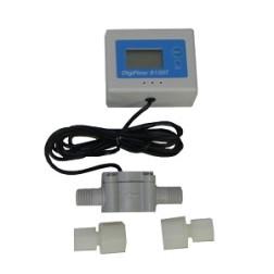 "FM-8100T, DigiFlow Digital Water Flow Meter Rate Monitor Gauge 56"" cable"