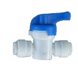 """AHUC-0606, Inline Ball Hand Valve Union Connector 3/8"""" OD Tubing Quick Connect Fitting"""