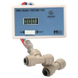 DM-1, Inline Dual TDS Monitor Meter Tester Gauge for RO DI System DM1