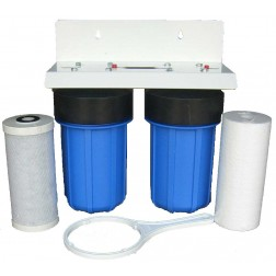 """6. WH-1134 Whole House Restaurant Water Treatment Filter System Sediment Carbon Filter 10"""" Big Blue BB"""