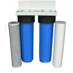 """5. WH-250, Whole House Water Treatment Sediment Carbon Filter System 20"""" Big Blue BB"""