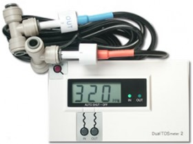 DM-2, Inline Dual TDS Monitor Meter Tester Gauge for RO DI System DM2