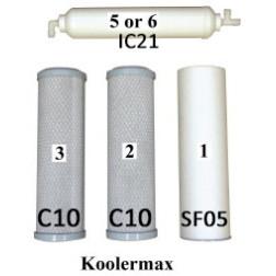 Annual Filter Kit Koolermax Series KPAK-4 Sediment Carbon Block
