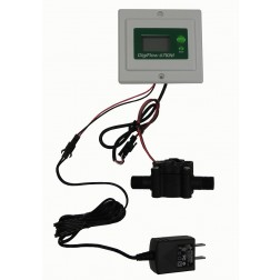 """FM6710-Panel, Panel 1/4"""" Digital Flow Meter Monitor Gauge Total Gallons GPM 56""""cable"""