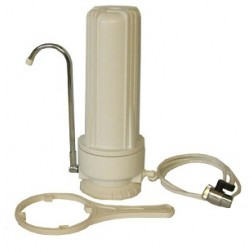 SW-1, COUNTERTOP WATER FILTER SYSTEM ONE STAGE (WHITE HOUSING)