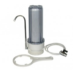 SW-1C COUNTERTOP WATER FILTER SYSTEM ONE STAGE (CLEAR HOUSING)